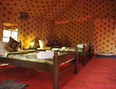 Gir Pride Resort inside tent