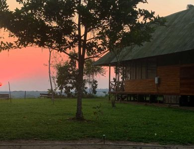 View at sunset