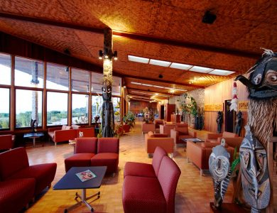 Rondon Ridge Lodge, Mount Hagen region. Papua New Guinea.