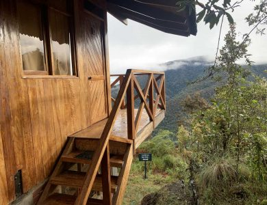 Wayqecha entrance to a cabin