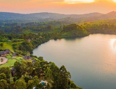 Crater Safari Lodge - A view of the lake
