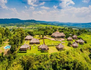 Crater Safari Lodge - A view of the lodge from above