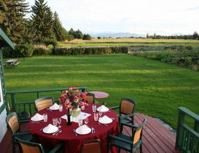 Gustavus Inn dining-on-our-deck