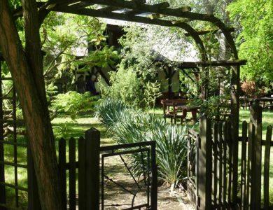 Entrance in the garden