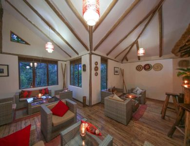 Gorilla Safari Lodge - Lounge area