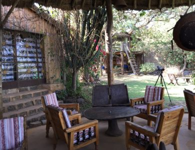 Babogaya Lake Viewpoint Lodge outside-dining