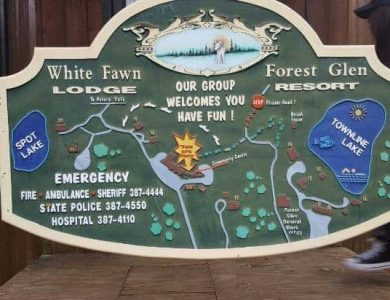 White Fawn Lodge - Site map