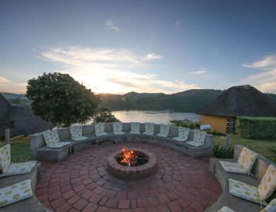 Crater Safari Lodge - Spend time around the fire in the evening