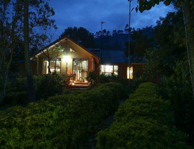 Gorilla Safari Lodge - The camp at night