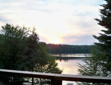 White Fawn Lodge - View of the lake